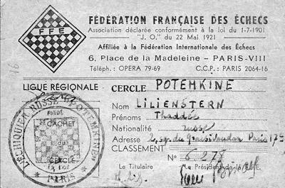 Thaddée Lilienstern, vice-président du Cercle Potemkine.