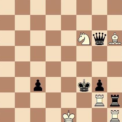 Les Blancs jouent et font mat en 1 coup
